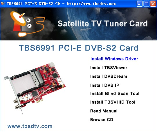 How to Use TBS6991 PCIE DVB S2 Dual Tuner Dual CI Card on