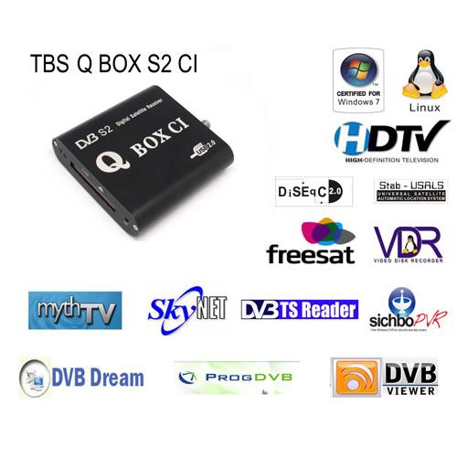 TBS5980 QBOX CI DVB-S2 TV Tuner USB -External TV Tuner Box for
