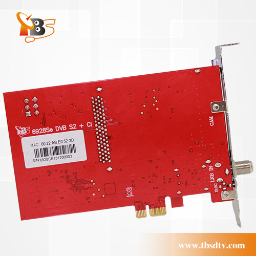 TBS6928SE PCIe DVB-S2 TV Tuner Card with CI and CAM- Internal TV